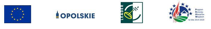 logo Unii Europejskiej, Programu Rozwoju Obszarów Wiejskich, programu Leader, Woj. Opolskiego