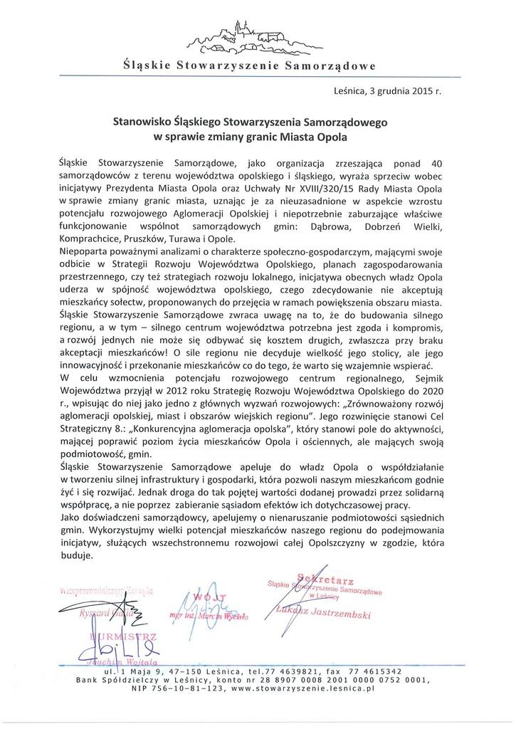 Stanowisko Śląskiego Stowarzyszenia Samorządowego.jpeg