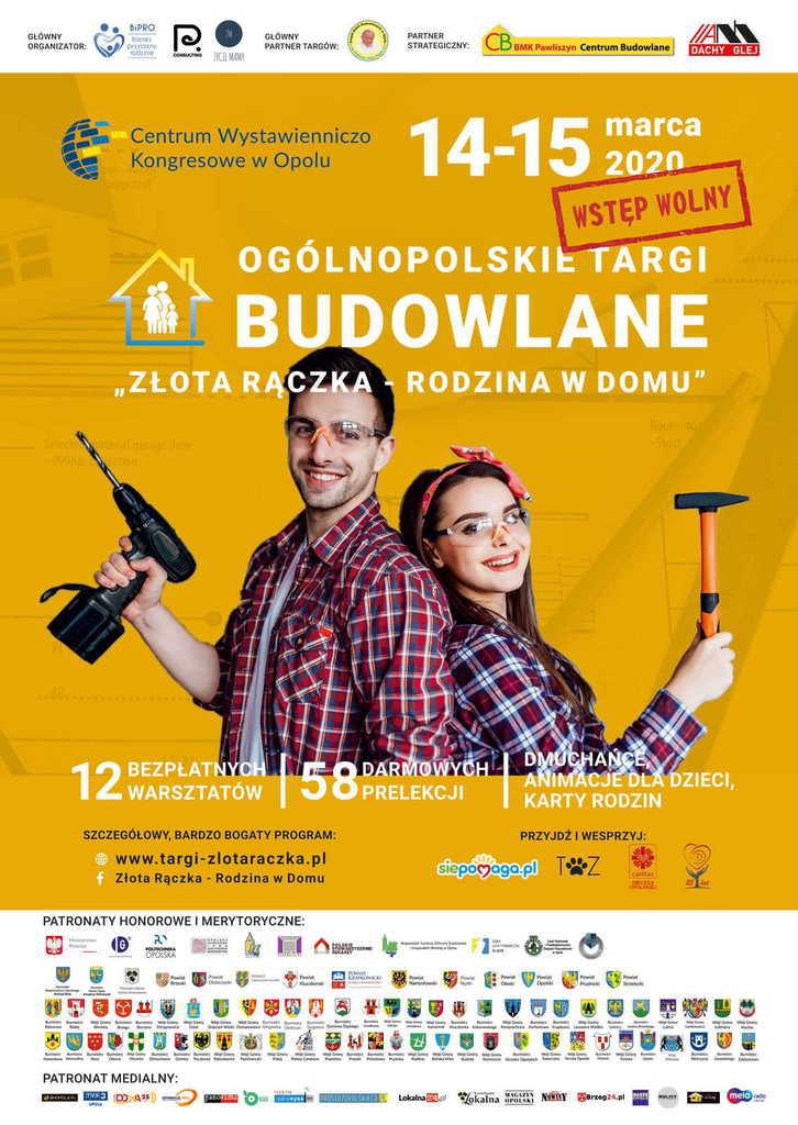 plakat Ogólnopolskie targi budowlane  Złota rączka - rodzina w domu.jpeg