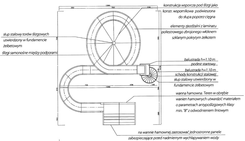 Zaprojektowana zjeżdżalnia wodna