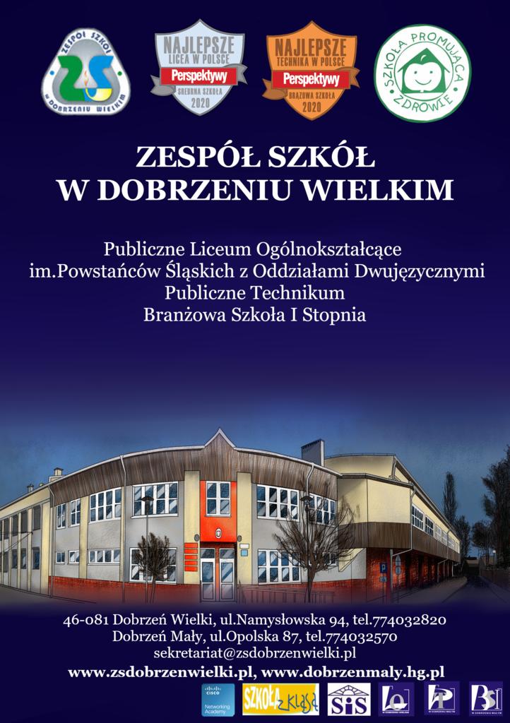 Zespół Szkół w Dobrzeniu Wielkim, Publiczne Liceum Ogólnokształcące, Publiczne Technikum, Branżowa szkoła I stopnia