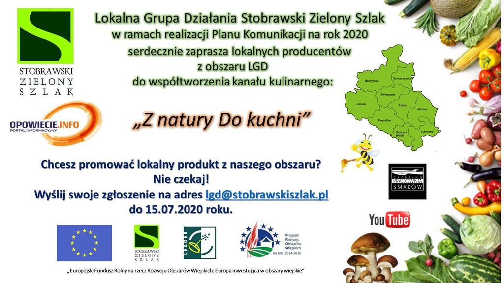 LGD Stobrawski Zielony Szlak zaprasza lokalnych producentów do współtworzenia kanału kulinarnego Z natury Do kuchni.jpeg