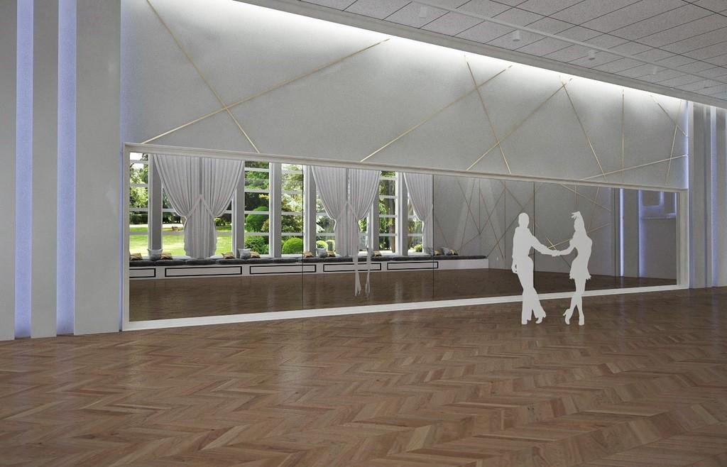 wizualizacja sali tanecznej w GOK