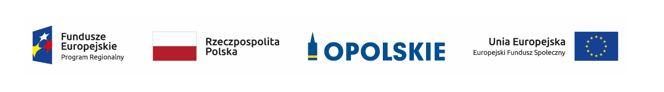 logo Fundusze Europejskie Program regionalny, flaga Polski, flaga Unii Europejskiej, logo Województwa Opolskiego