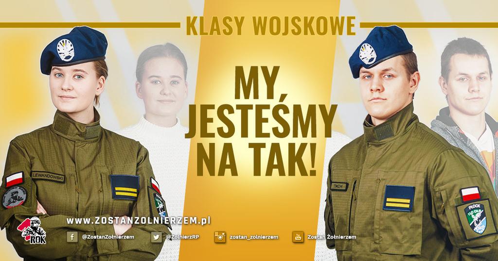 plakat Klasy wojskowe, My jesteśmy na tak, zostań żołnierzem