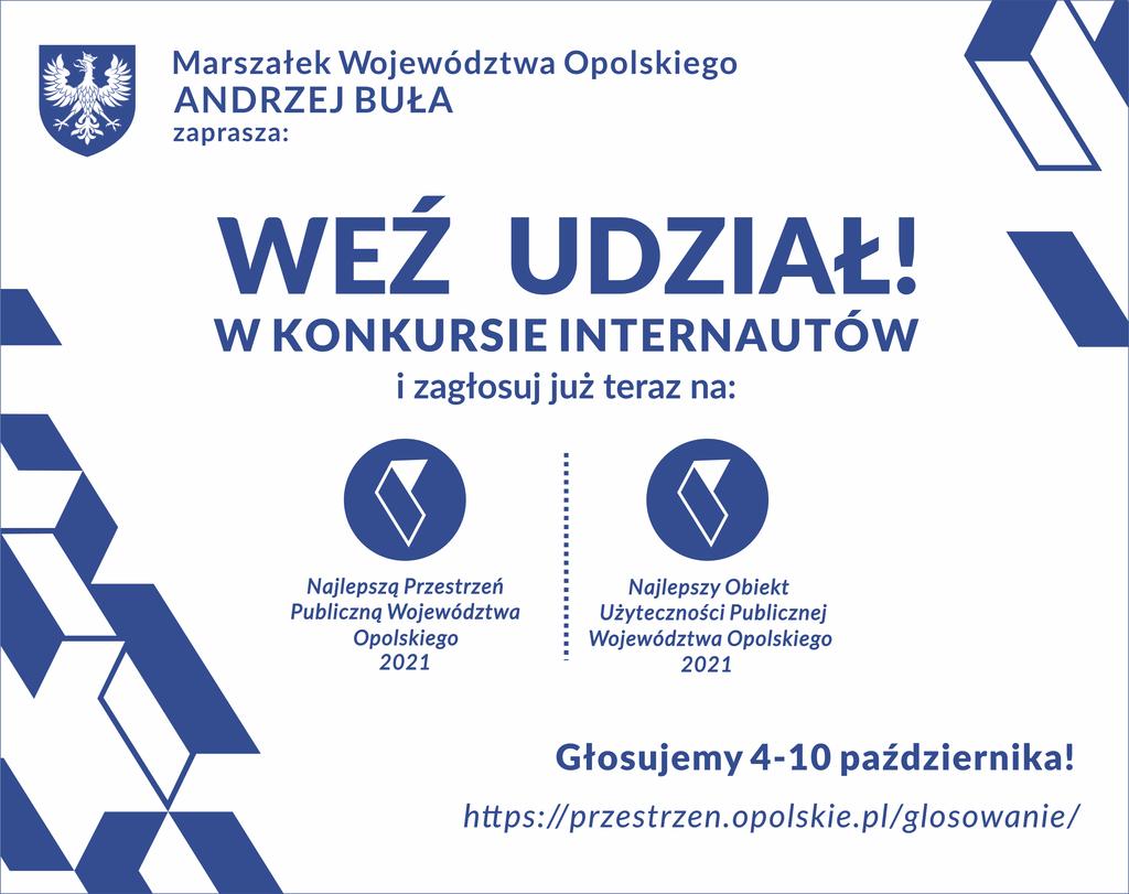 Informacje o konkursie i głosowaniu na najlepszą przestrzeń publiczną województwa opolskiego