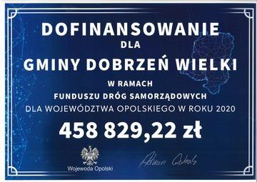 Dofinansowanie przebudowy ul. Korfantgo w Dobrzeniu Wielkim z Funduszu Dróg Samorząsowych.jpeg