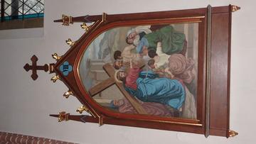 Stacja Drogi Krzyżowej nr VIII Pan Jezus pociesza płaczące niewiasty.