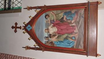 Stacja Drogi Krzyżowej nr X Pan Jezus z szat obnażony.
