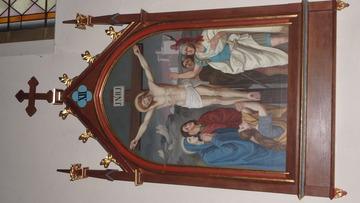 Stacja Drogi Krzyżowej nr XII Pan Jezus umiera na krzyżu.