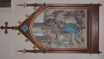 Stacja Drogi Krzyżowej nr I Pan Jezus na śmierć skazany.