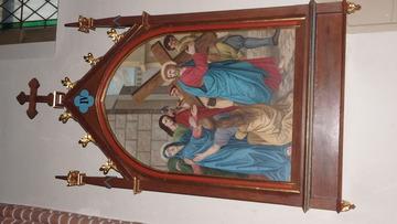 Stacja Drogi Krzyżowej nr IV Pan Jezus spotyka swą Matkę.
