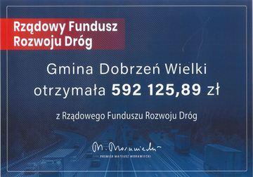 Informacja o przyznaniu dofinansowania z Rządowego Funduszu Rozwoju Dróg.jpeg