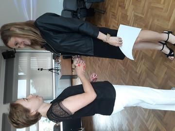 Anna Pawelec i Adriana Pietrzyk z Referatu Oświaty w Urzędzie Gminy Dobrzeń Wielki